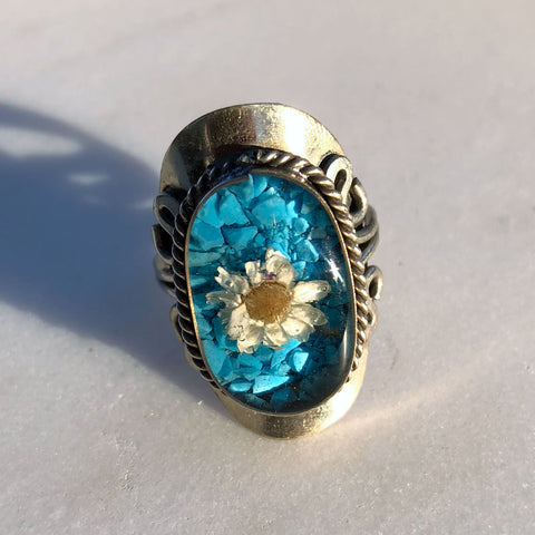 Flower Blue Ring