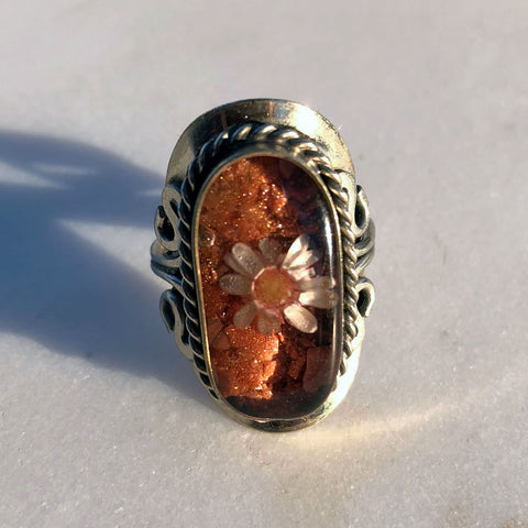 Flower Rust Ring
