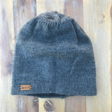 Reversible Knit Hat - Grey/Grey