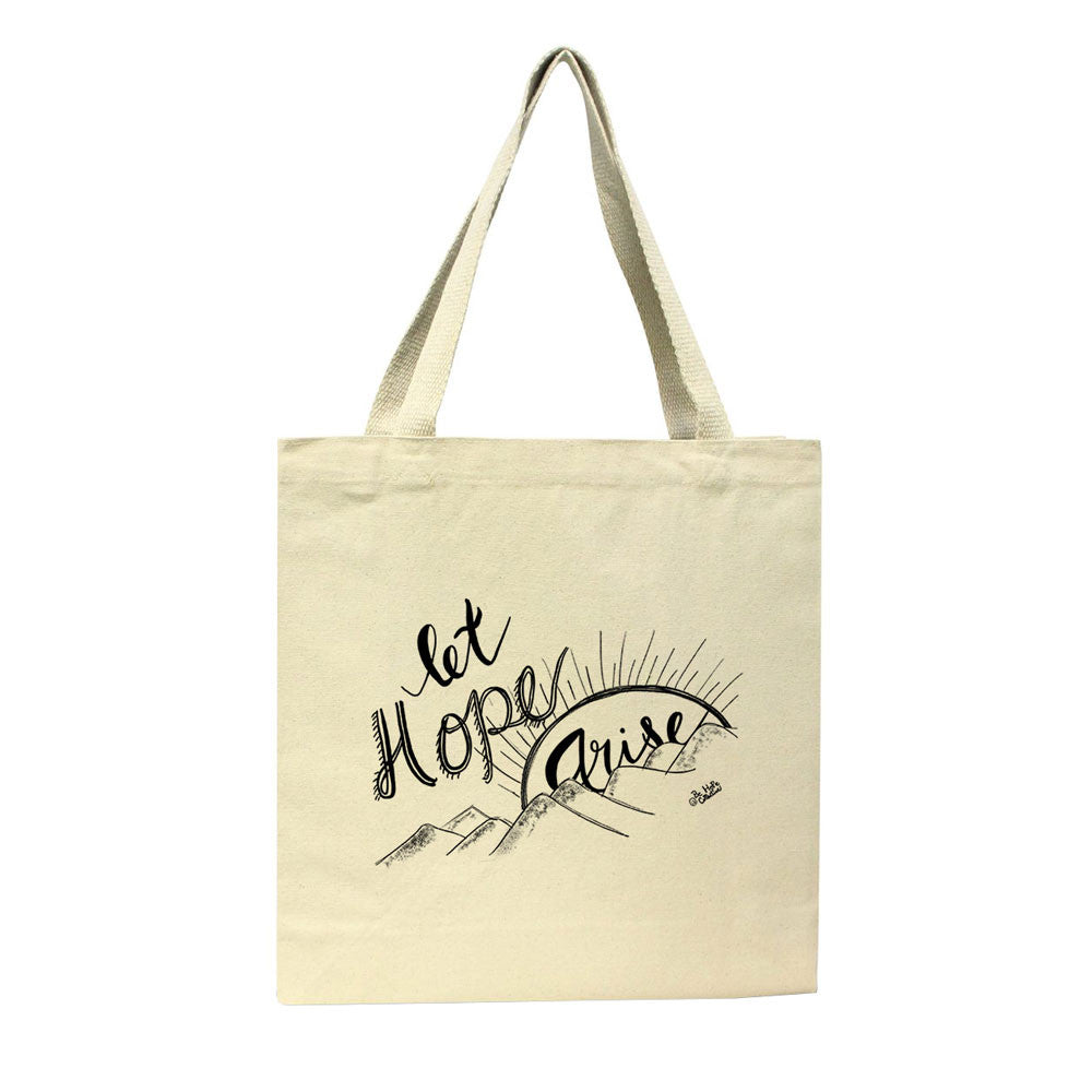 Let Hope Arise Tote bag