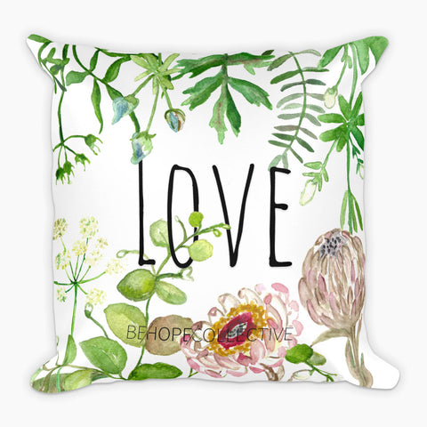 Love (Flowers) Pillow