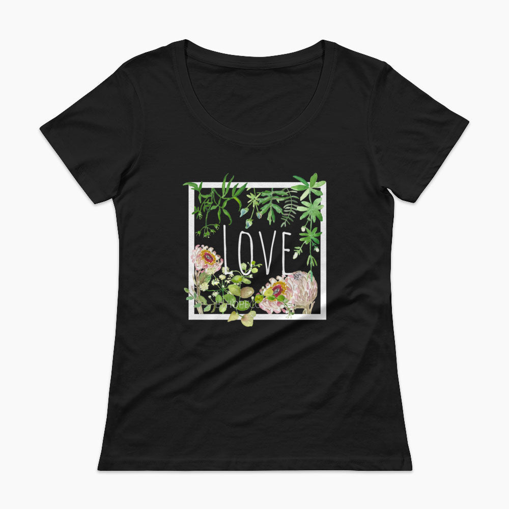 Love (Flowers) Ladies' Scoopneck
