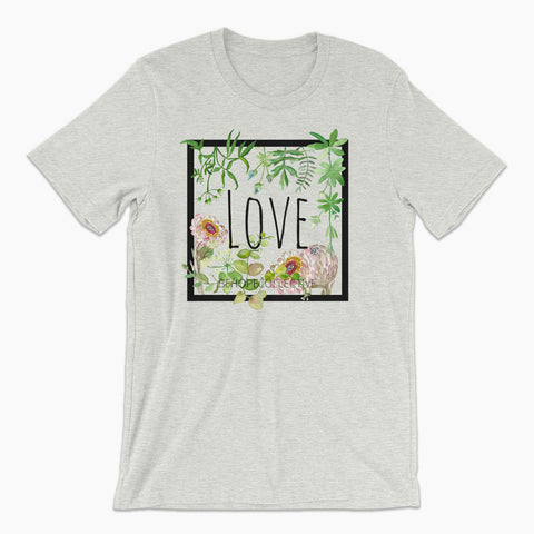 Love (Flowers) Unisex T-Shirt