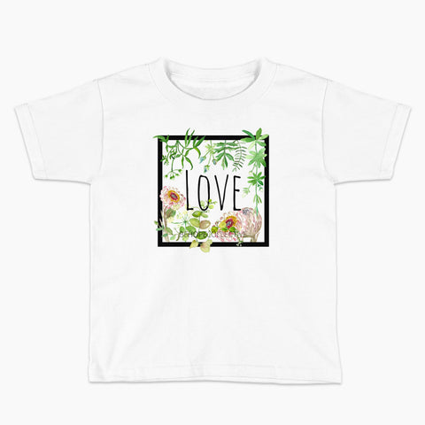 Love (Flowers) Kids T-Shirt