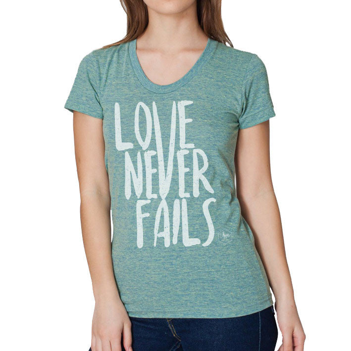 Love Never Fails Women's Tri-blend Soft T-shirt