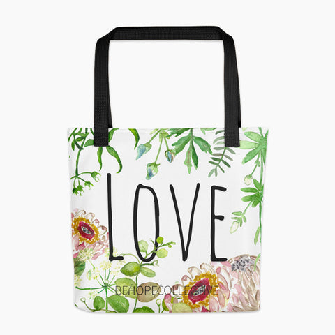 Love (Flowers) All Over Tote