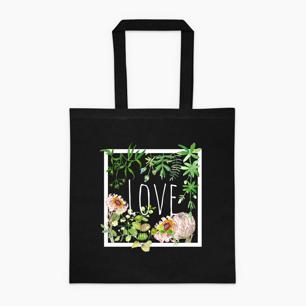 Love (Flowers) Tote bag