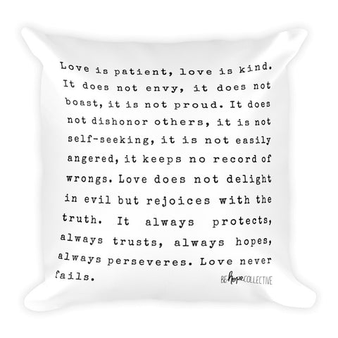 """Love is..."" Square Pillow"