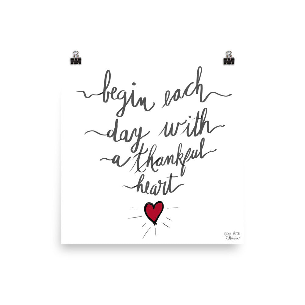 Thankful Heart Poster