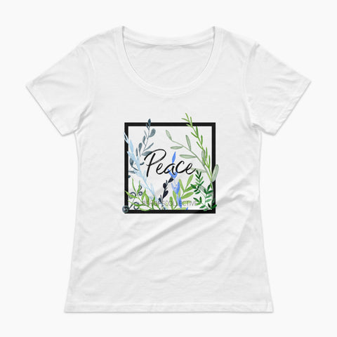 Peace (Vines) Ladies' Scoopneck