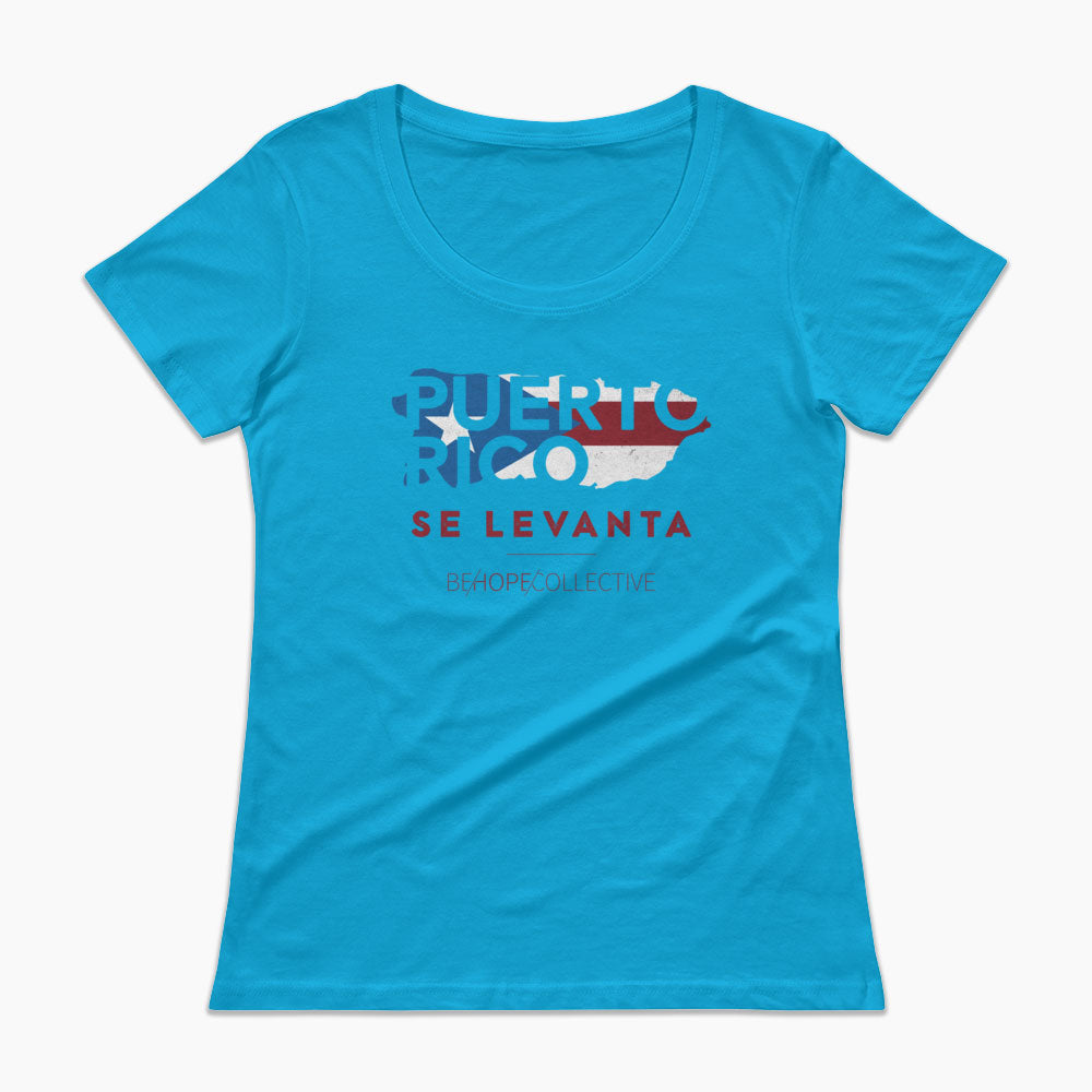 Puerto Rico Se Levanta Ladies' Scoopneck