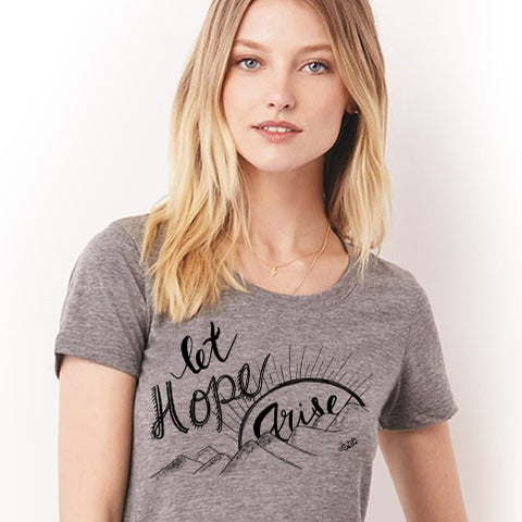 Let Hope Arise - Ladies' short sleeve t-shirt