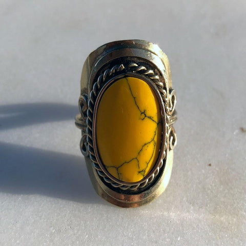 Sunrise Yellow Turquoise Ring