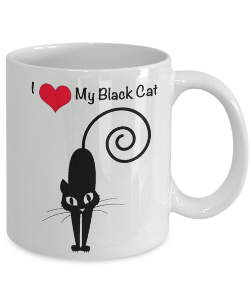 I Love My Black Cat 11 oz. Mug