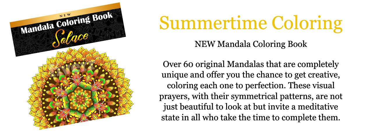 Fun Summertime Coloring with our new Mandala Coloring book