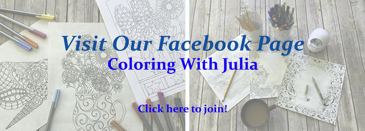 Visit Our Facebook Page Coloring With Julia