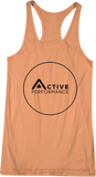 Active Black Circle French Terry Women's Tank