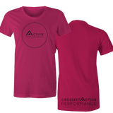 Active Circle Black Women's T-shirt