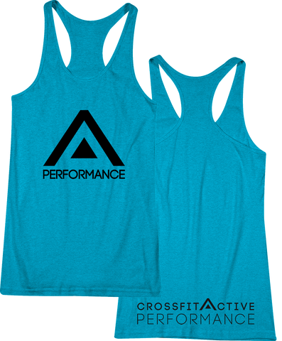 Active Black Competitor Tri-Blend Women's Tank