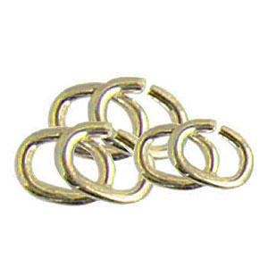 14kt Yellow Oval Jump Rings - 5.40 x 4.60 x 0.81 mm
