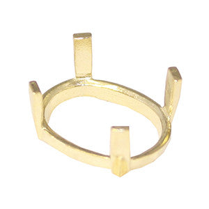 Single Gallery Oval Wire Setting with Flat Prongs