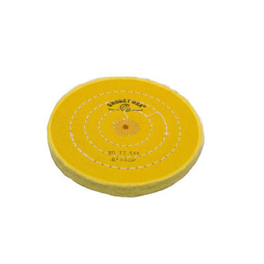 "6"" Diameter Chemkote Yellow Buffs with Shellac Center (632839110690)"
