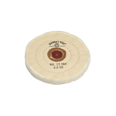 "4"" Dia. Stitch Type Finex Muslin Buffs with Leather Centers (636177154082)"