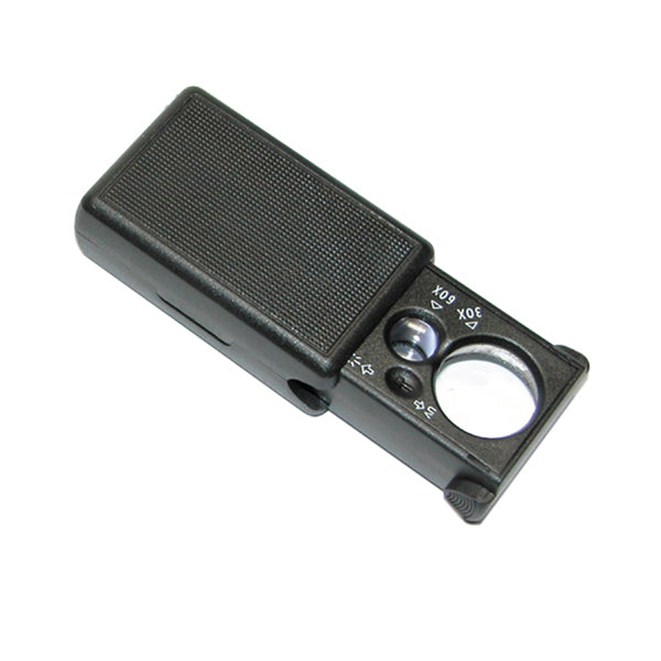 Magnifier with LED and UV Light Pull Type