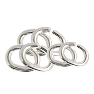 White Gold Fill Oval Jump Rings - 5.20 x 4.60 x 1.00 mm (558771503138)