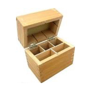 Wood Case for Test Acids - 5 Compartments