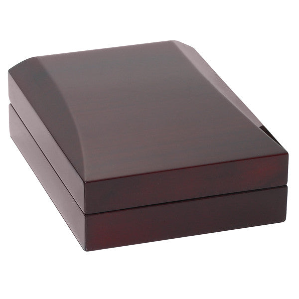 BX-5600-N Burgundy Wood Finished Necklace Box