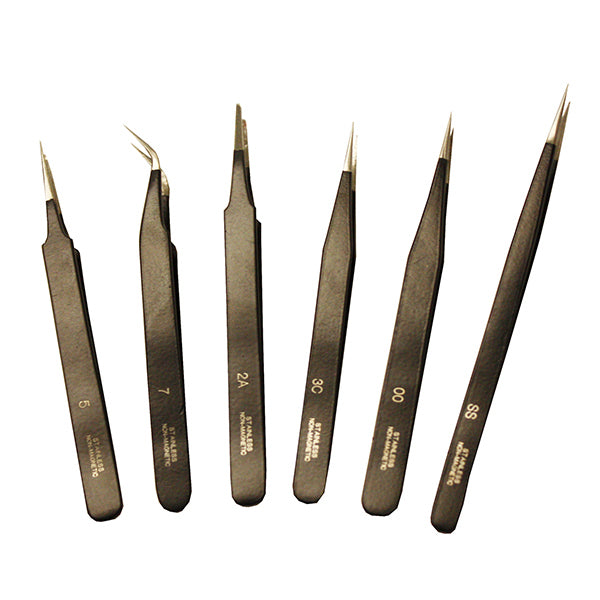 Set of 6 Tweezers