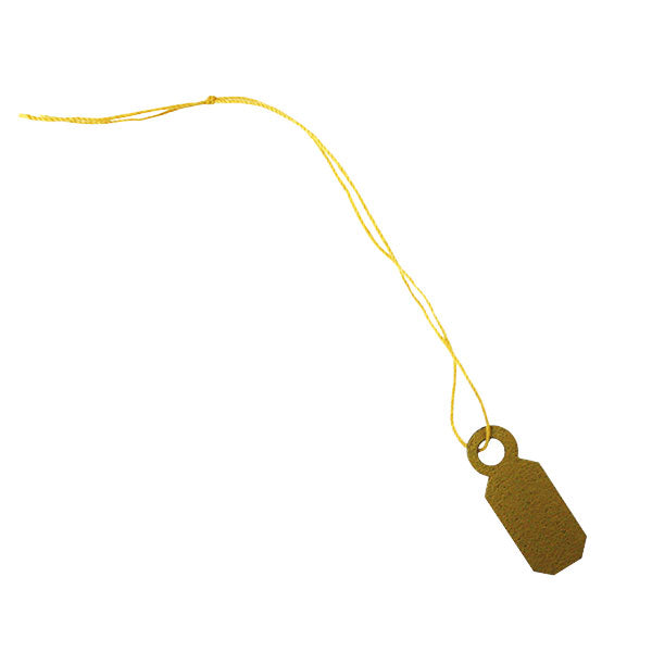 "Gold PVC String Tags -  5/16""x1/2"""