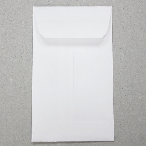 "No. 3 White Blank Job Envelopes- 4 1/4"" x 2 1/2"" (3814925467682)"