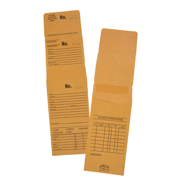 Triple Duty Kraft Repair Envelopes Num 1001 to 2000 with Lay-Away