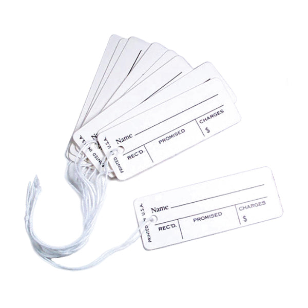 White Printed Tags