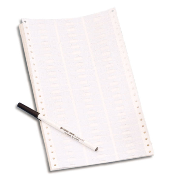 White Shark-Skin Tags for Dot Matrix Printers - PKG of 1000