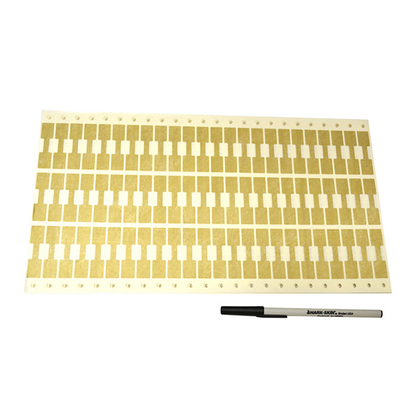 Gold Shark-Skin Tags for Dot Matrix Printers - PKG of 1000
