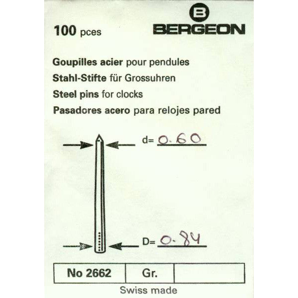 Steel Tapered Pins 0.60mm