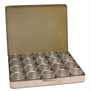 Aluminum Hinged Box with 20 Containers