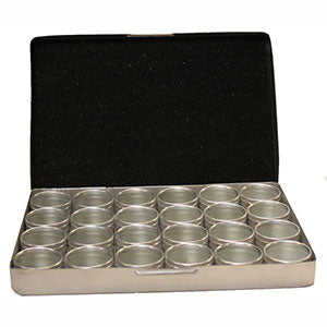 Aluminum Hinged Box with 24 Containers