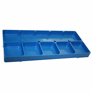 6 Compartment Blue Shop Tray