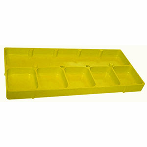 6 Compartment Yellow Shop Tray