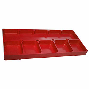 6 Compartment Red Shop Tray