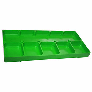 6 Compartment Green Shop Tray