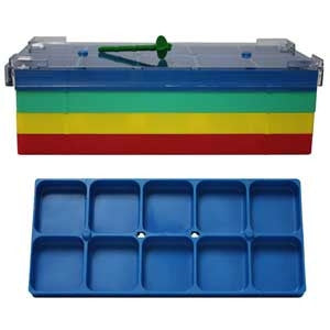 10 Compartment Blue Shop Tray