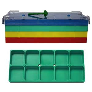 10 Compartment Green Shop Tray