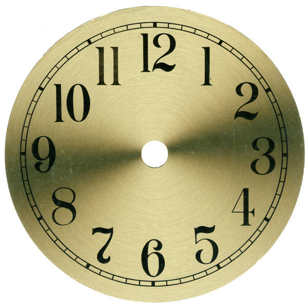 "Brass Finished Dial 6"" Arabic"