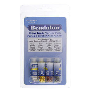 Crimp Beadalon Assortment 1- pkg 600