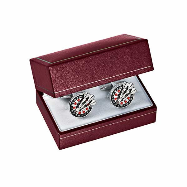 BX-3600-5-CL Burgundy Cufflink Box (9290742084)
